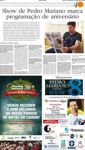 Edição Especial de 40 anos do Jornal da Orla - Entrevista exclusiva dada a CÁSSIO LARANJA