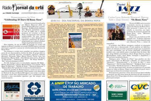 25/01/14 – DIA NACIONAL DA BOSSA NOVA