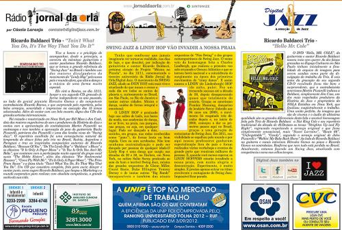SWING JAZZ & LINDY HOP VÃO INVADIR A NOSSA PRAIA
