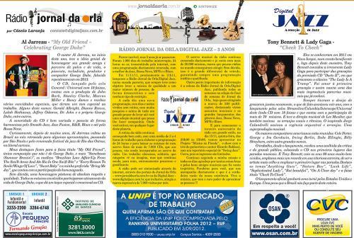 RÁDIO JORNAL DA ORLA/DIGITAL JAZZ – 3 ANOS