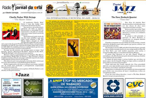 DIA INTERNACIONAL E MUNCIPAL DO JAZZ – 30/04/15