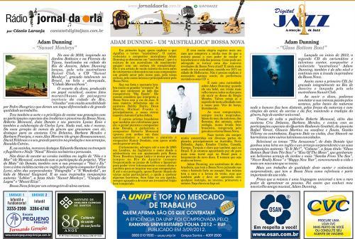 "ADAM DUNNING – UM ""AUSTRALIOCA"" BOSSA NOVA"