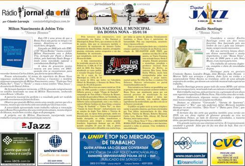 DIA NACIONAL E MUNICIPAL DA BOSSA NOVA – 25/01/16