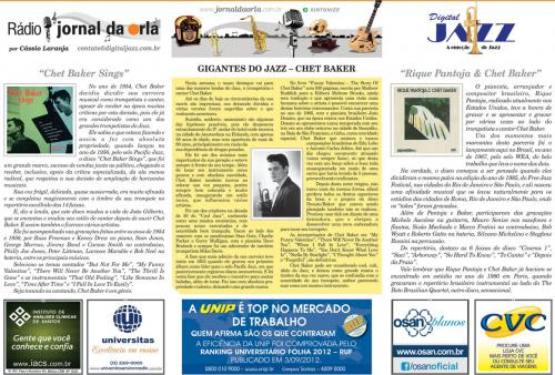 GIGANTES DO JAZZ – CHET BAKER