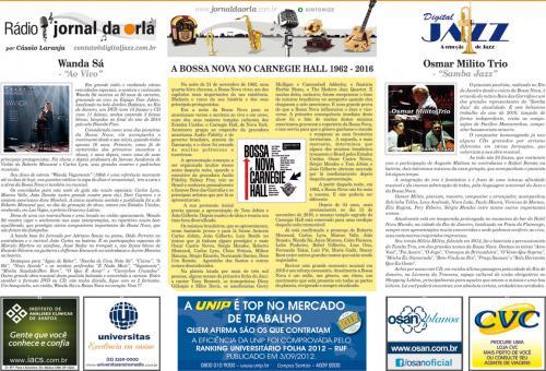 A BOSSA NOVA NO CARNEGIE HALL 1962 – 2016