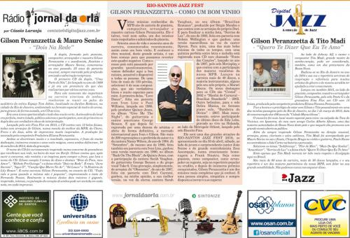 RIO-SANTOS JAZZ FEST GILSON PERANZZETTA – COMO UM BOM VINHO