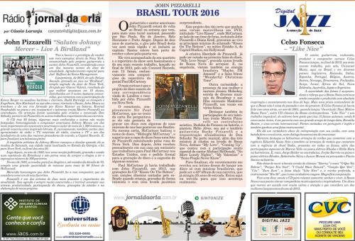 JOHN PIZZARELLI - BRASIL TOUR 2016