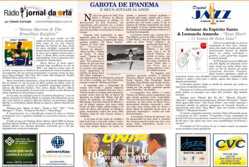 GAROTA DE IPANEMA - E SEUS JOVIAIS 54 ANOS