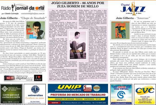 JOÃO GILBERTO – 86 ANOS POR ZUZA HOMEM DE MELLO