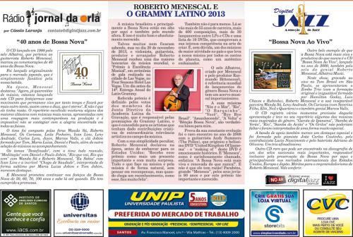 ROBERTO MENESCAL E O GRAMMY LATINO 2013